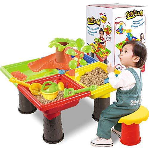 Sand Und Wasserspieltisch | Sandkastentisch Für Kinder | Sand- Und Wasser-Tischspielset Mit Verschiedenem Zubehör Für Outdoor-Aktivitäten | Sandspielzeug Spieltisch