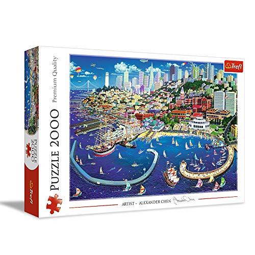 Trefl, Puzzle, San Francisco Bay, 2000 Teile, USA, Premium Quality, für Kinder ab 15 Jahren
