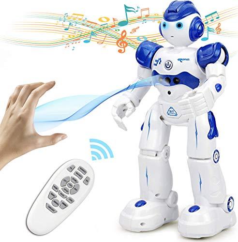 NEWYANG Roboter Spielzeug für Kinder, RC und Geste Steuerung, Aufladen mit USB-Kabel,Singender und Tanzender Roboter, Programmierung Ferngesteuerter Roboter Geburtstags Innenspielzeug.