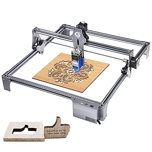 SCULPFUN Pro Laser Graviermaschine Professionelle Lasergravur Metal Ultradünner Fokus Hochpräziser Holz Acryl Lasergravierer Cutter 410x420mm Carving Erea