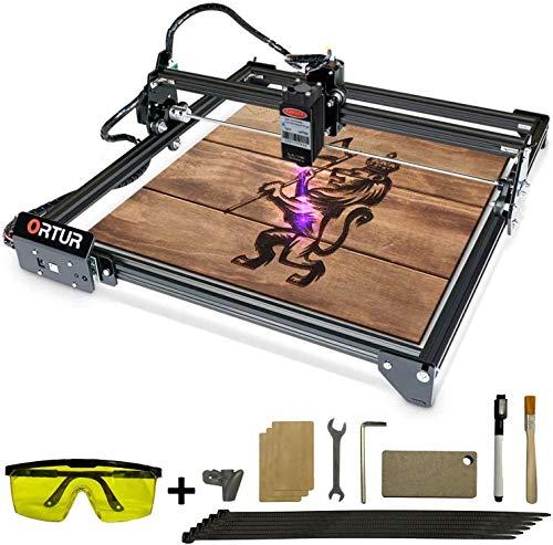 ORTUR Laser Master 2, Lasergravierer-CNC, Lasergravur-Schneidemaschine, DIY-Lasermarkierung für Metall mit 32-Bit-Motherboard LaserGRBL (LightBurn), 400 x 430 mm große Gravurfläche(15W)