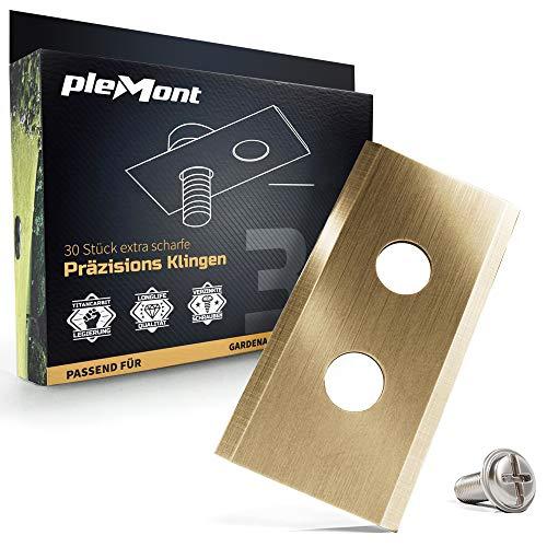 Plemont® [30er Set] Titan Worx Landroid Messer. Premium Ersatzklingen für viele Worx® Mähroboter. Ersatzteile, Rasenroboter, Ersatzmesser, Automover