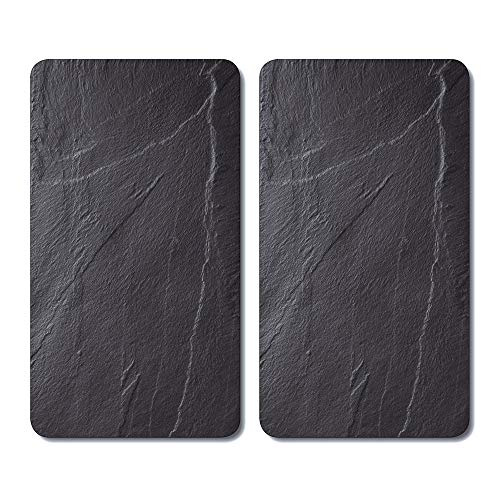 Kesper 3652313 Multi-Glaschneideplatte, 2er-Pack, Motiv: Schiefer, Maße: 52 x 30 x 0,8 cm