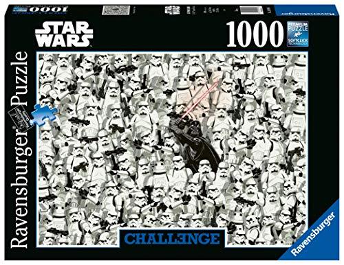 Ravensburger Puzzle 1000 Teile Challenge Star Wars, Darth Vader und seine Klonkrieger, Puzzle für Erwachsene und Kinder ab 14 Jahren