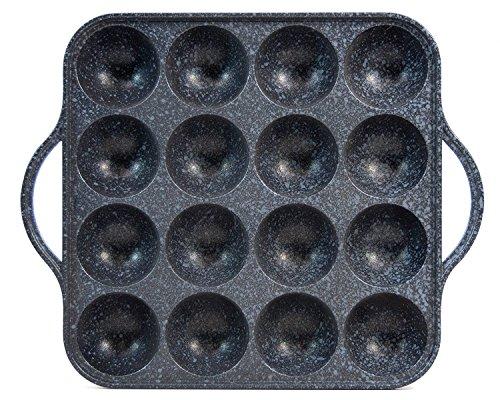 CookKing–Tako-YAKI GRILL PFANNE/Kochen Platte Aluminiumguss Standard schwarz
