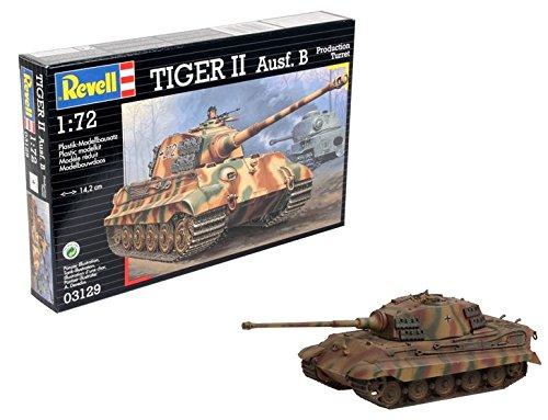Revell Modellbausatz Panzer 1:72 - Tiger II Ausf. B im Maßstab 1:72, Level 4, originalgetreue Nachbildung mit vielen Details, 03129