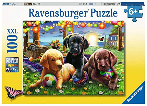 Ravensburger Kinderpuzzle 12886 - Hunde Picknick - 100 Teile
