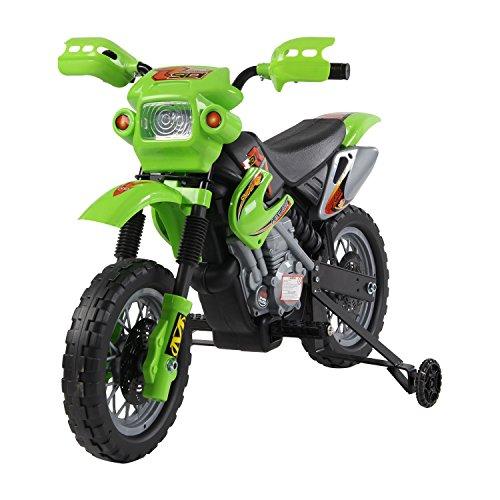 HOMCOM Kinderauto Kinderwagen Elektroauto Kinderfahrzeug Kindermotorrad Quad Elektroquad Kinderquad Elektromotorrad grün