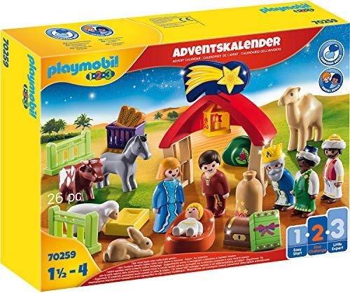 PLAYMOBIL Adventskalender 70259 Weihnachtskrippe, Für Kinder ab 1,5 Jahren