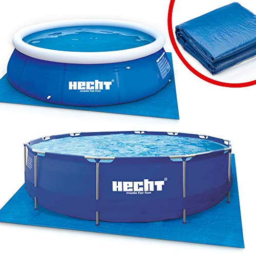 Hecht Bodenschutzplane für den Gartenpool Schwimmbecken – 2 Poolmatten mit 390 x 390 cm und 309 x 309 cm zur Auswahl – extrem robust & langlebig – 90g/qm PE- Folie Unterlegmatte Pool Unterlage