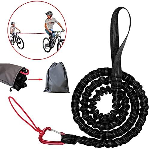Abschleppseil Fahrrad Kinder Tow Rope für Fahrrad Abschleppgurt Elastisch Fahrrad Bungee Abschleppseil, Eltern Kind Zugseil Abschleppseil Schwarz Bike Traktionsseil, Tragfähigkeit 500 lbs