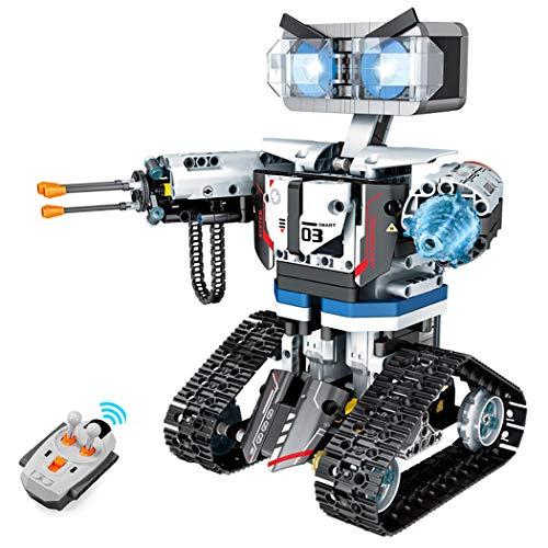 Ferngesteuertes Roboter Spielzeug, Groß STEM Baustein Roboticset, Mechanik Waffen Roboter Krieger. für Jungen und Mädchen ab 10+ Jahren(611pcs)
