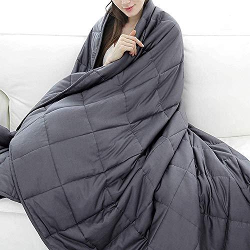 RATEL Gewichtsdecke 150×200cm, 7.22 Kg Beschwerte Decke aus Aus 100% Baumwolle Und Glasperlen für Erwachsene Und Jugendliche - Verbessern Sie den Schlaf und lindern Sie Angstzustände