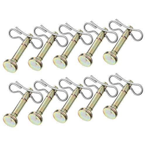 Hemoton 20 Stück Scherbolzen und Splint Metall Ersatz Scherstifte Kompatibel für MTD 714-04040 und 738-04124 Cub Cadet Schneewerfer