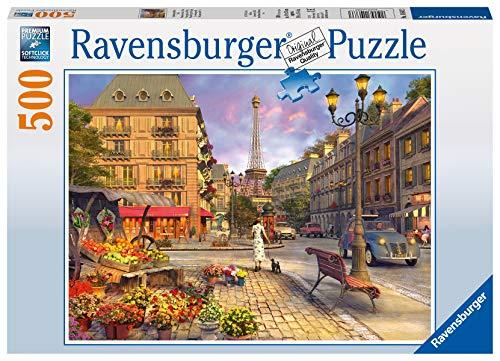 Ravensburger Puzzle 14683 - Spaziergang durch Paris - 500 Teile Puzzle für Erwachsene und Kinder ab 10 Jahren, Puzzle mit Stadt-Motiv