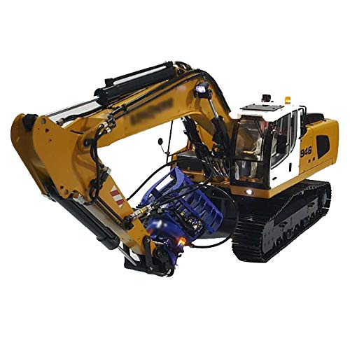 GAOXUQIANG 1/14 RC Fernbedienung Metall Hydraulikbagger Modell-946,Yellowcolor5w