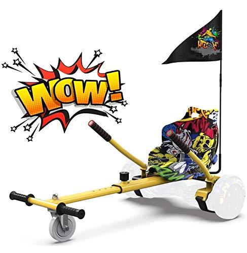 RCB Hoverboard Sitz Hoverkart für Hoberboards Go Kart Längenverstellbar Kompatibel mit Allen Hoverboards - 6,5/8 / 8,5/10 Zoll für Erwachsene und Kinder