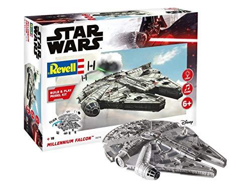 Revell Build & Play 06778 Millennium Falcon, bewegliche Teile, Light&Sound, 1:164, 20,9 cm Disney Star Wars Modellbausatz für Einsteiger zum Stecken und Spielen, farbig