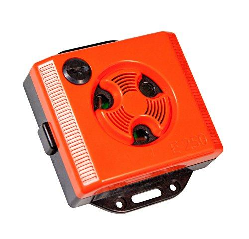 Windhager Mäuseabwehr, Mäusevertreiber Ultraschall Topo Stop E250 Mäuseschreck für die Steckdose Universalschutz, rot, 10,5 x 9,5 x 3 cm, 05040