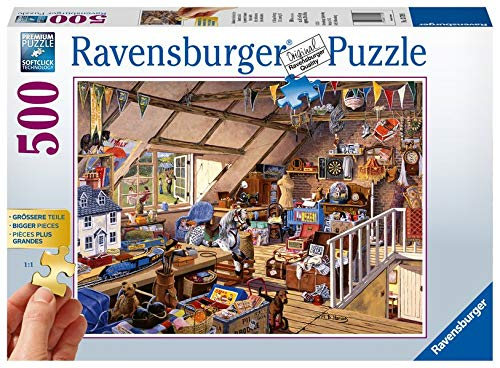 Ravensburger Puzzle 13709 - Großmutters Dachboden - 500 Teile