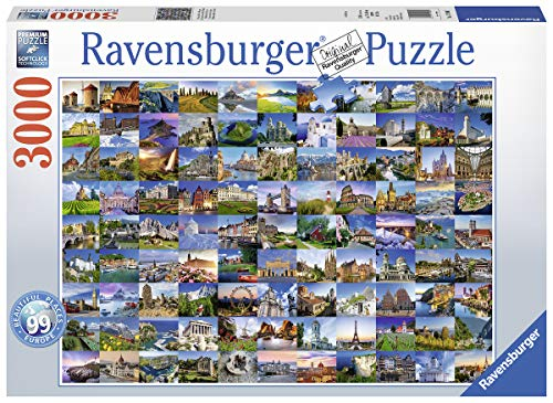 Ravensburger Puzzle 17080 - 99 Beautiful Places in Europe - 3000 Teile