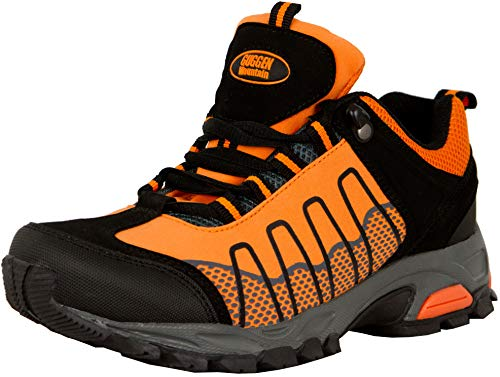 GUGGEN Mountain, Frauen Trekkingschuhe Damen Wanderschuhe Walkingschuhe Outdoorschuhe Outdoor Schuhe Softshell T002, Farbe Orange, EU 41