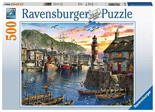 Ravensburger Puzzle 15045 - Morgens am Hafen - 500 Teile Puzzle für Erwachsene und Kinder ab 10 Jahren