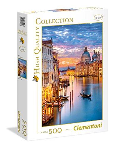 Clementoni 35056 Leuchtendes Venedig – Puzzle 500 Teile, High Quality Collection, buntes Legespiel für die ganze Familie, Erwachsenenpuzzle ab 14 Jahren
