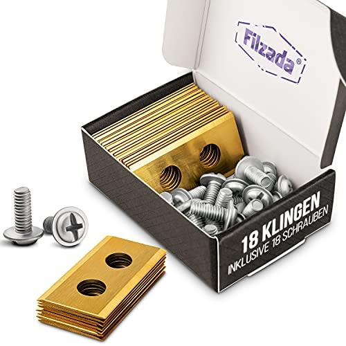 Filzada® 18x Titan Ersatzklingen geeignet für alle Worx Landroid Mähroboter - Ultrascharfe Ersatzmesser - kompatibel inkl. 18 Schrauben - Klingen auch geeignet für LandXcape, Zoef Robot und Einhell