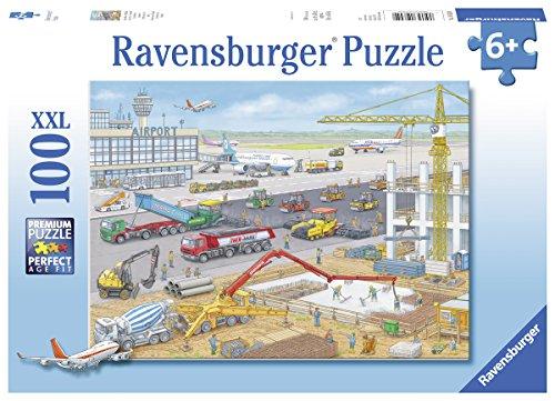 Ravensburger Kinderpuzzle 10624 - Baustelle am Flughafen - 100 Teile