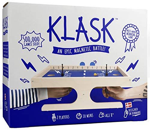 KLASK - Preisgekröntes Geschicklichkeitsspiel für 2 Spieler - Brettspiel für Familie und Erwachsene