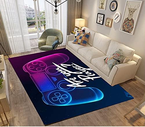 3D Galaxis Star Anime Gamer Muster Kinder Jungen Teppich Schlafzimmer Dekorativ Kinderzimmer Wohnzimmer,Matten Krabbelmatte Modern Weichem Flanell Kinderteppiche Waschbar (Blau,120x160 cm)
