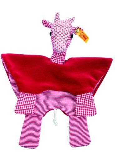 Steiff 235955 - Bendy Giraffe Schmusetuch 28 cm, rot