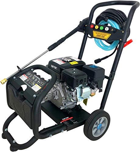 DeTec. Benzin Hochdruckreiniger Dampfstrahler max. 220 bar - 3000 PSI | 7 PS Motor mit 210 ccm | 5 Düsen inklusive