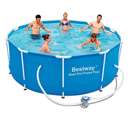 Bestway 56334GS-03 Frame Pool 'Steel Pro' Set mit Filterpumpe, 305 x 100 cm