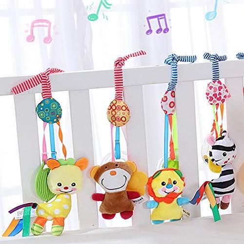 Czemo Musik Baby Kinderwagen Spielzeug Kinderbett Anhänge Hängen Rassel Kleinkind Spielzeug laufstall Spielzeug mit Klingel Glocke Soft Rassel Kinderbett Spielzeug für Neugeborene und Kleinkinder