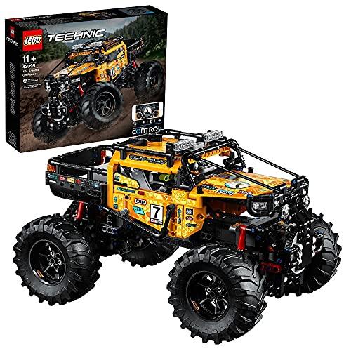 LEGO 42099 Technic Control+ 4 x 4 Allrad Xtreme-Geländewagen, App-gesteuertes Konstruktionsspielzeug mit Smarthub und interaktiven Motoren für Kinder und Erwachsene