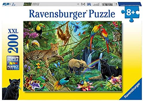 Ravensburger Kinderpuzzle - 12660 Tiere im Dschungel - Tier-Puzzle für Kinder ab 8 Jahren, mit 200 Teilen im XXL-Format
