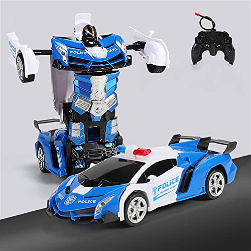 JUSHINI Transformator Ferngesteuertes Auto Spielzeug, 2 In 1 Verformung RC Auto Fernbedienung Deformations Auto, Ferngesteuertes Roboter Auto Spielzeug für Kinder 5~12 Jahren