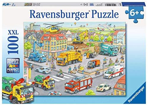 Ravensburger Kinderpuzzle 10558 - Fahrzeuge in der Stadt - 100 Teile