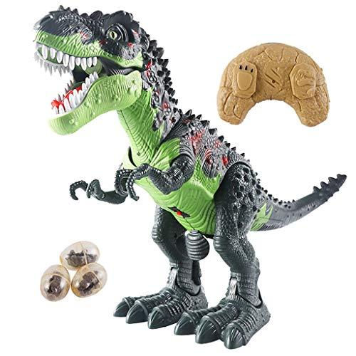 Ferngesteuertes Dinosaurier Spielzeug Deko Geburtstag, Dino Geschenk, Ferngesteuertes Spielzeug,Dinosaurier-EierDinosaurier Kinderspielzeug mit Simuliertem Flamme, Sprühen, Eier Legen (Dinosaurier A)