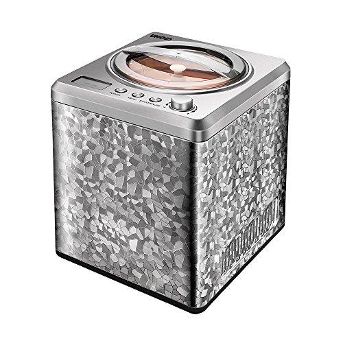 Unold 48870 Eismaschine Profi mit Kompressor, Volumen für 2 L Eiscreme, elegantes Edelstahlgehäuse, robuster Motor mit 180 W