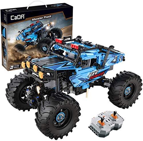 CADA Technik Master C61008W, 4 * 4-Monster-Kletterauto mit Fernbedienung, Geländewagen-Kleinteilchen-Baustein-Spielzeugset 699PCS