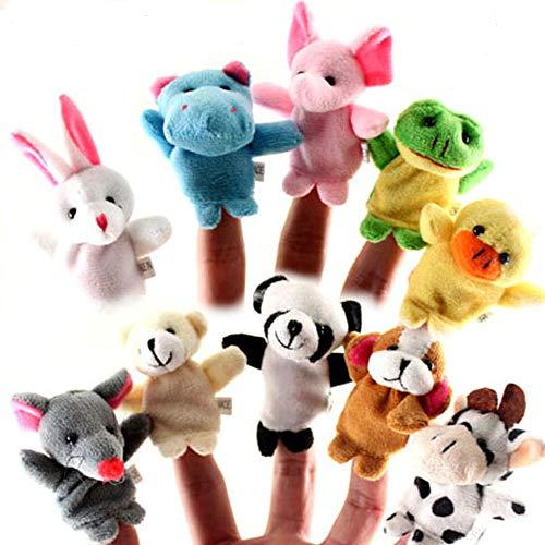 Limeow Fingerpuppen Satz fingerpuppen Klein Tier Fingerpuppe Tier Fingerpuppe Fingerpuppe Set Finger Plüschtier Fingerpuppen Spielzeug Baby Fingerpuppen Set Kleine Tier Fingerpuppe(10 insgesamt)