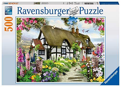 Ravensburger Puzzle 14709 - Verträumtes Cottage - 500 Teile Puzzle für Erwachsene und Kinder ab 10 Jahren