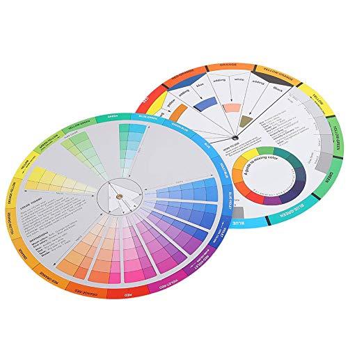 2 Stück Color Wheel Color Mix Guide, Tattoo Pigment Chart Zubehör für Farbe Permanent Eyebrow Lip Body Tattoo