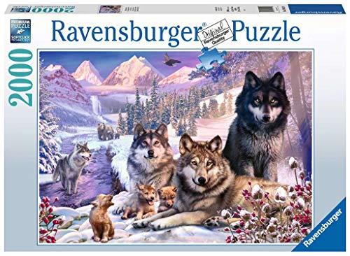 Ravensburger Puzzle 16012 - Wölfe im Schnee - 2000 Teile Puzzle für Erwachsene und Kinder ab 14 Jahren, Tier-Puzzle mit Wolfs-Motiv
