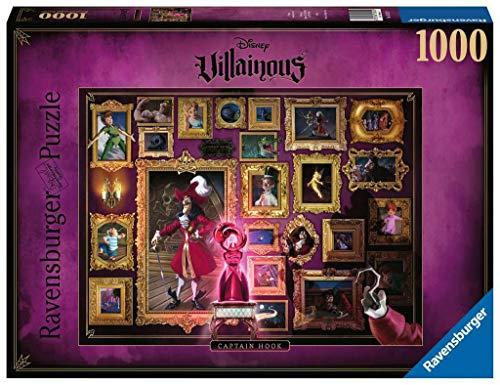 Ravensburger Puzzle 1000 Teile Disney Villainous, Captain Hook aus Peter Pan, Disney Puzzle für Erwachsene und Kinder ab 14 Jahren