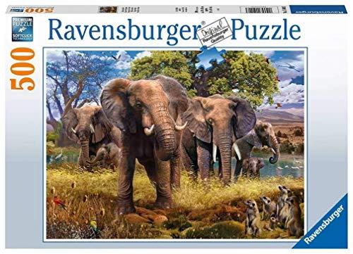 Ravensburger Puzzle 15040 - Elefantenfamilie - 500 Teile Puzzle für Erwachsene und Kinder ab 10 Jahren, Tier-Puzzle mit Elefanten-Motiv