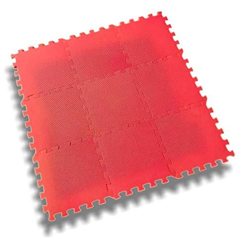 9 TLG. 90x90cm Puzzlematte   Schaumstoffmatte   Bodenschutzmatte   Spielmatte   Bodenmatte   Poolmatte   Sportmatte   Trainingsmatte für Fitness & Yoga Set in Rot